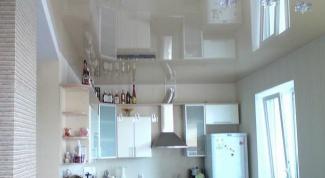 Как сделать натяжные потолки на кухне
