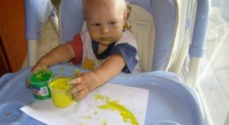 Пальчиковые краски для детей до года: пробуем рисовать