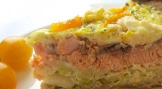 Сырно-горчичный пирог с рыбой