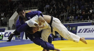 As deposited on the belt in judo
