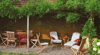 Уход за садовой мебелью из натуральных материалов