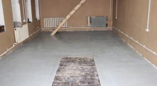 Из чего сделать пол в гараже