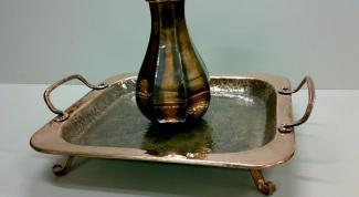 Чем очистить потемневший старинный медный поднос