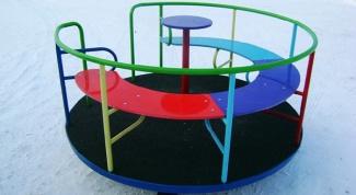 Как сделать карусель для детской площадки своими руками