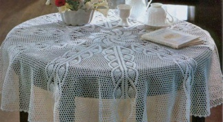 How to tie tablecloth crochet
