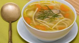 Рецепт куриного супа с лапшой