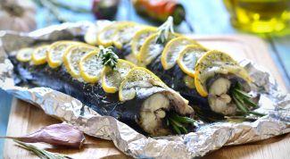 Скумбрия в фольге: рецепты быстрых и вкусных блюд