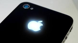 Как сделать, чтобы на айфоне светилось яблоко