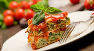 Легкое полезное итальянское блюдо - овощная лазанья