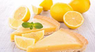 Пирог Лимонник - ароматное удовольствие к чаю