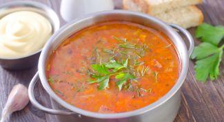 Рецепт кислого супа с тклапи