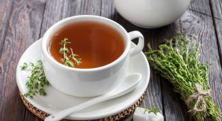 Чай с чабрецом: польза, противопоказания, рецепт напитка