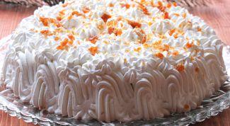 Густой сливочный крем для торта – кулинарный рецепт