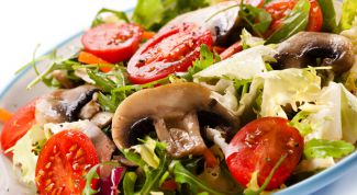 Простой рецепт грибного салата