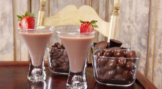 Шоколадный коктейль: рецепт приготовления