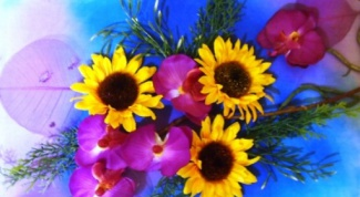 How to make a panel of artificial flowers with their hands