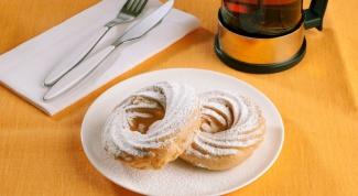 Домашние сладости: колечки из заварного теста