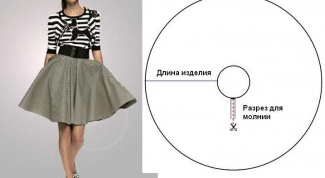 How to sew a skirt sun flare