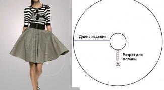 Как сшить юбку солнце-клеш