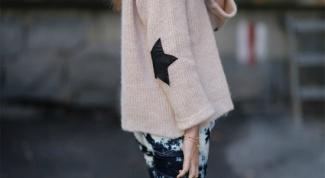 С чем носить свитер-оверсайз