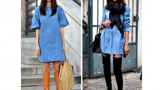 What to wear with denim dress