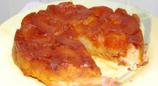Как приготовить карамельный пирог с грушами в мультиварке