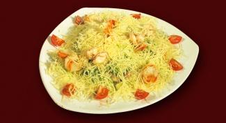"""Праздничный салат с ветчиной и сыром """"Натали"""""""