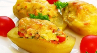 Рецепт фаршированного картофеля с яйцом