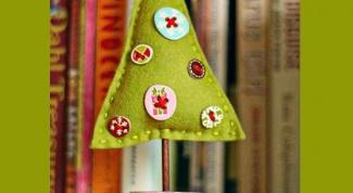 Шьем новогоднюю елочку из фетра
