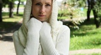 How to tie Snood knitting for beginners