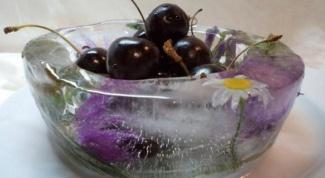 Как сделать ледяную вазу