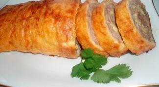 Мясной рулет в сырной оболочке