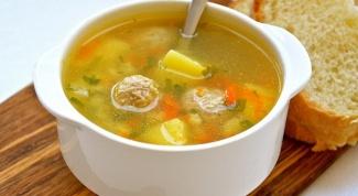 Как приготовить суп с фрикадельками по-гречески?