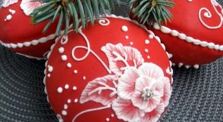 Как сделать пряничные новогодние шары