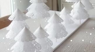 Как сделать новогоднюю елку из салфеток