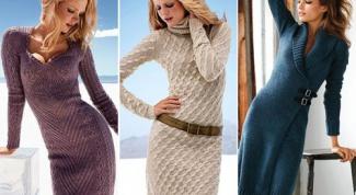 Как носить и с чем сочетать вязаное платье