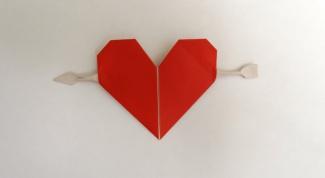 Как сделать сердце со стрелой из бумаги