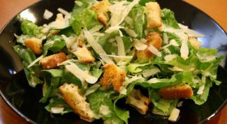 Как приготовить дома салат Цезарь классический