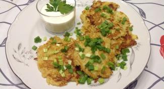 Как приготовить драники картофельные с луком