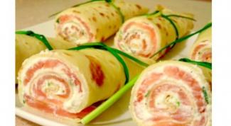 Рецепты на Масленицу: рулетики из блинов с начинкой
