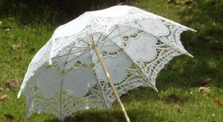 How to make lace umbrella parasol with your own hands