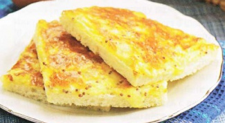 Гренки с сыром и травами или целый омлет