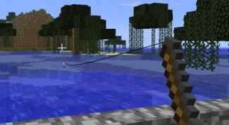 How to make a fishing rod and catch a fish in Minecraft