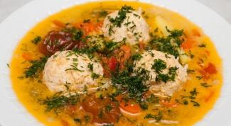 Суп с фрикадельками из фарша и манки