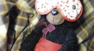Как сшить маску для сна
