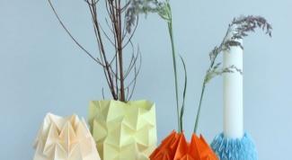 Стильные вазы из бумаги своими руками