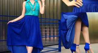 What to wear with a blue skirt
