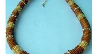 Колье - бисерный шнур своими руками