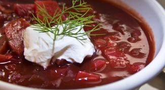 How to cook borsch with beets, so it was red