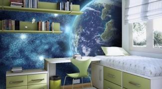 Космические фотообои в интерьере